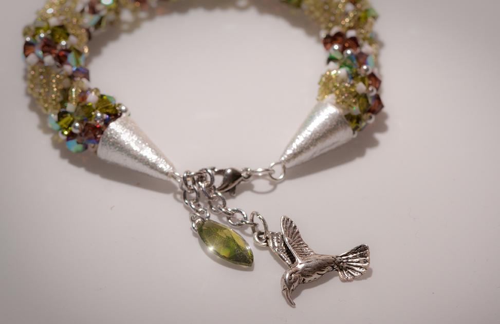 Inspira beadwork bracelet