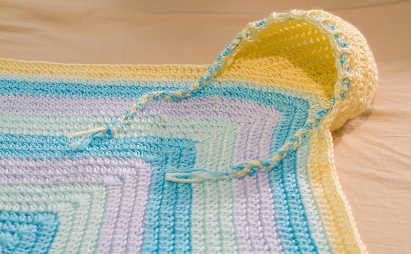 Baby Blanket Hoodie The Blue Brick Inspired Yarns