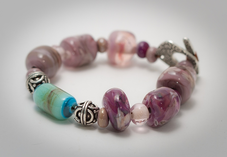 glass lampworking bracelet