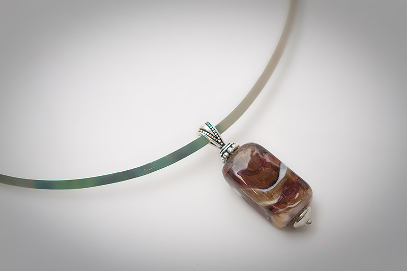 lampworked pendant