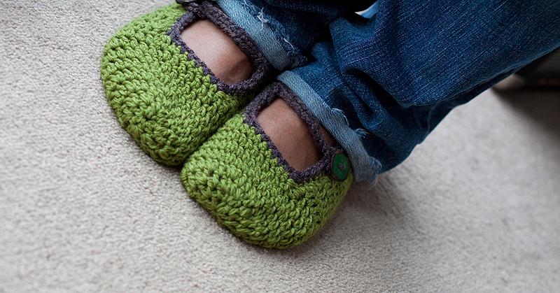 Enchanting Mary Jane Crochet Slipper Pattern Free Illustration