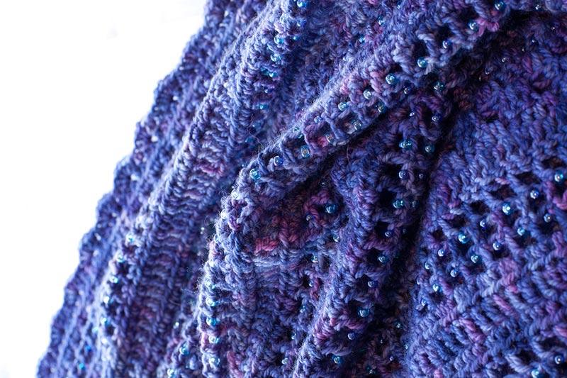 Free beaded shawl pattern