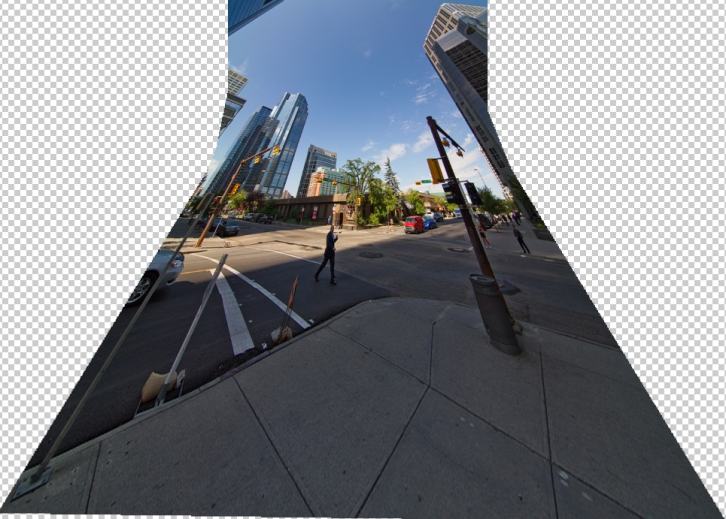 Correcting a vertical panorama