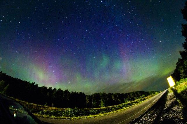 dramatic night highway