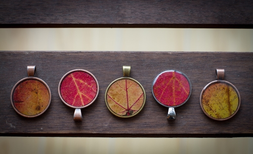Leaf jewellery ©Shireen Nadir 2012