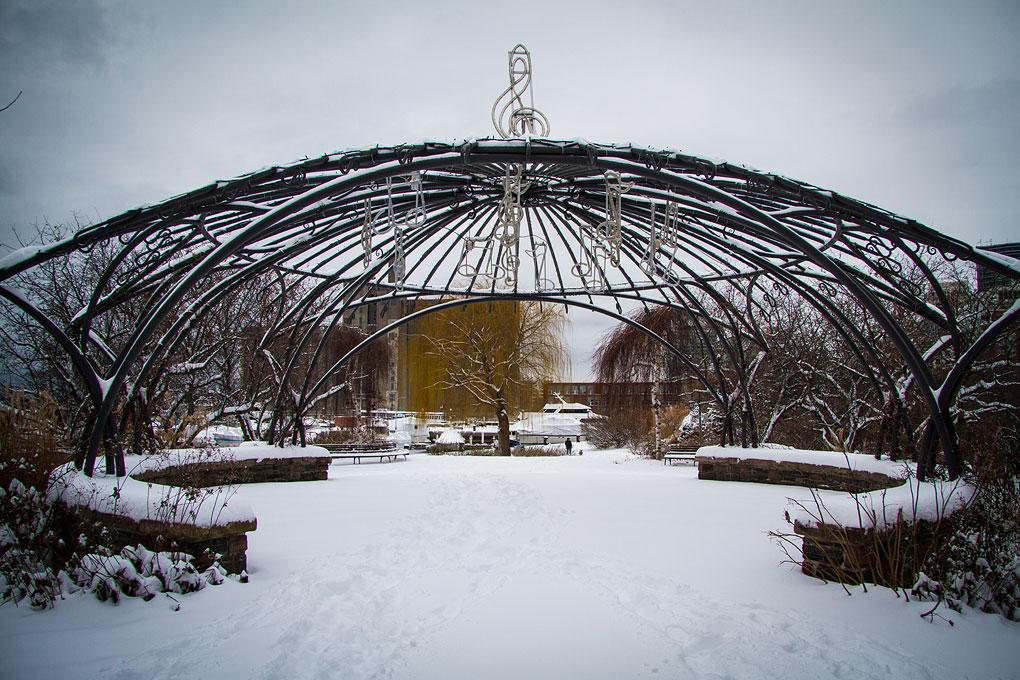 Winter in the Music Garden ©Shireen Nadir 2012