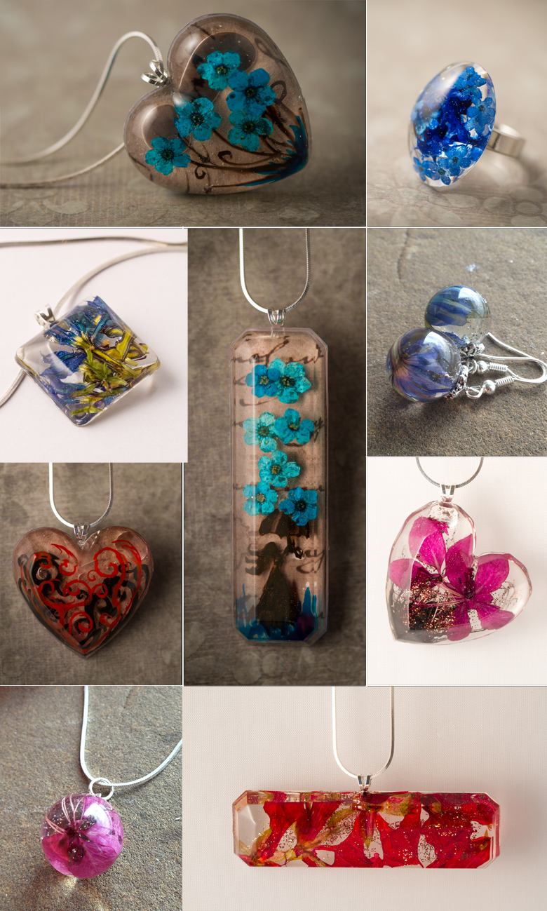 Project 4 – Using resin molds, the 'Ice Cube' Pendant ...