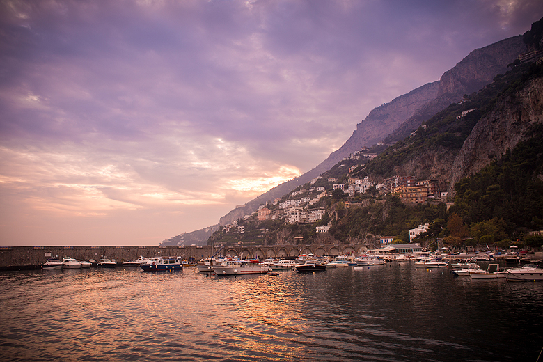 Amalfi at sunset