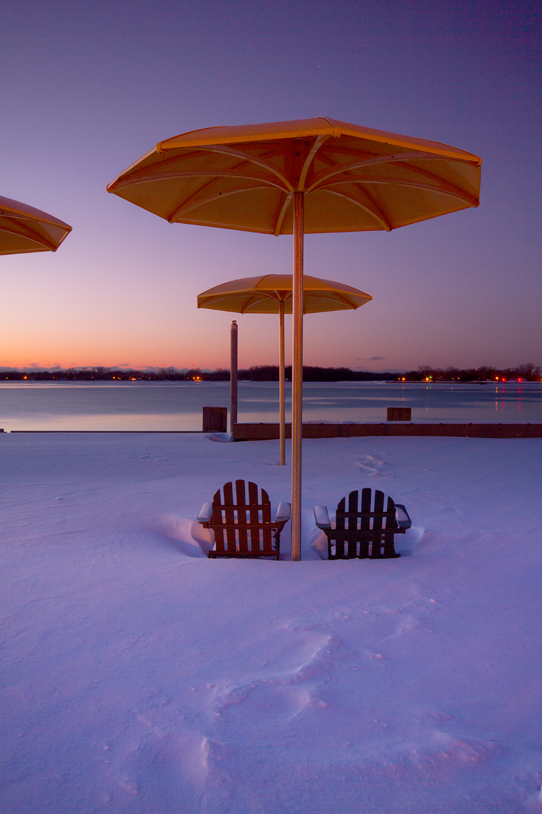 Toronto, Harbourfront after a snow storm