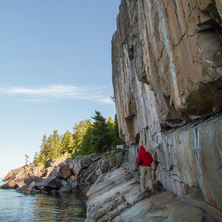 The Agawa carvings in Lake Superior Provincial Park