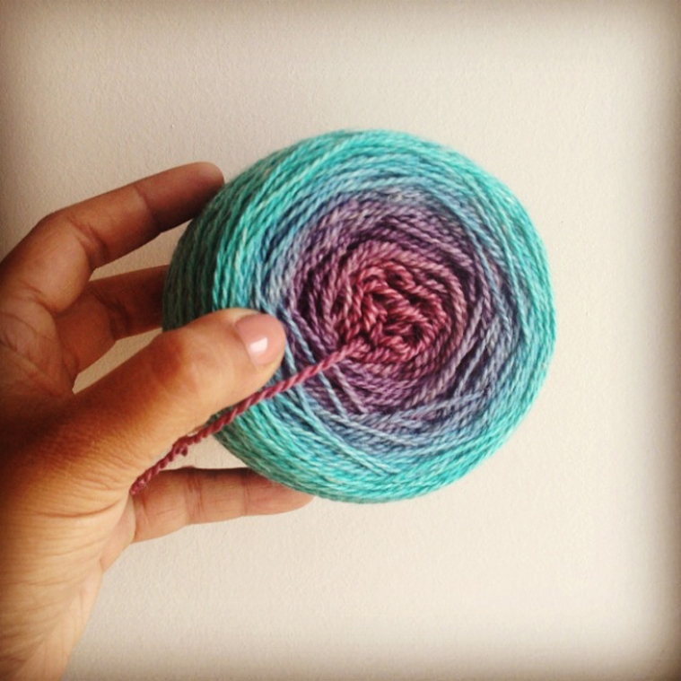Dying Ombre Yarn ©Shireen Nadir 2014