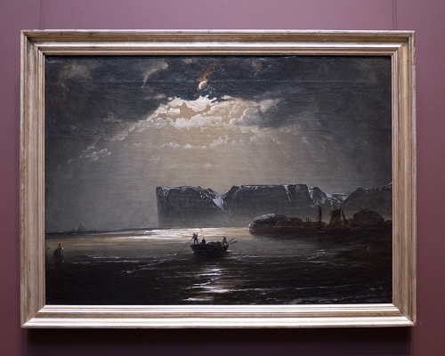 My other favourite. This is by a Norwegian painter called Pedar Balke. He painted this particular scene a few times, I love how real and silvery the water looks.