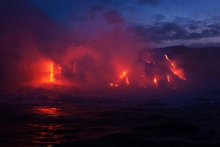 Mt Kilauea lava flow ©Shireen Nadir 2014