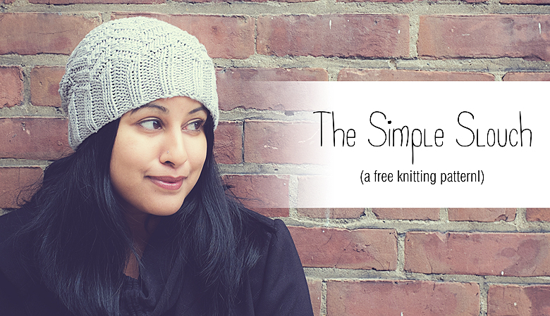 The Simple Slouch Free Knitting Pattern The Blue Brick